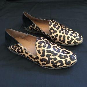 Franco Sarto Leopard Cheetah Slip Ons Loafers